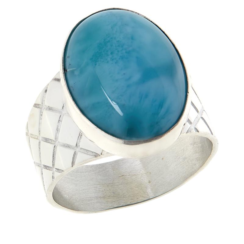 Jay King Sterling Silver Larimar Oval Ring