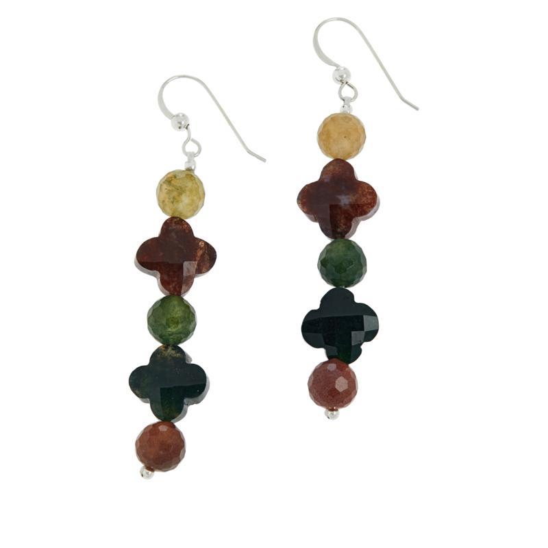 Jay King Sterling Silver Multi-Color Chalcedony Dangle Earrings