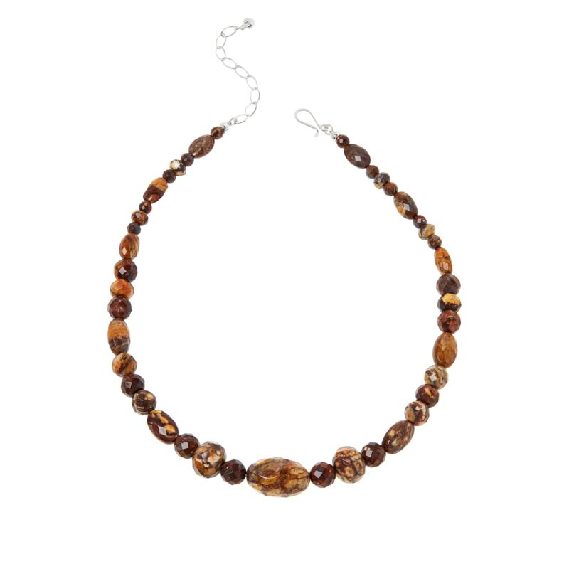Jay King Sterling Silver Multi-Color Shitake Stone Necklace