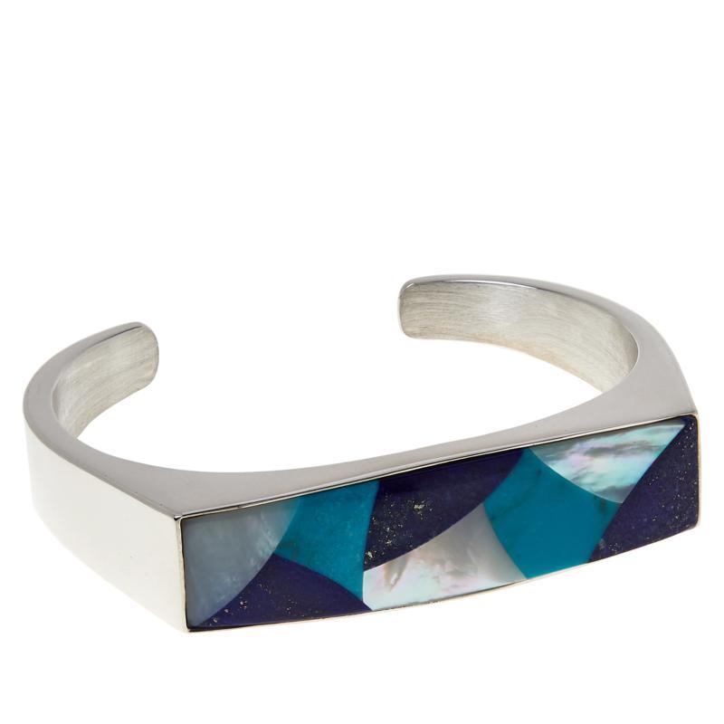 Jay King Sterling Silver Multi-Stone Doublet Cuff Bracelet