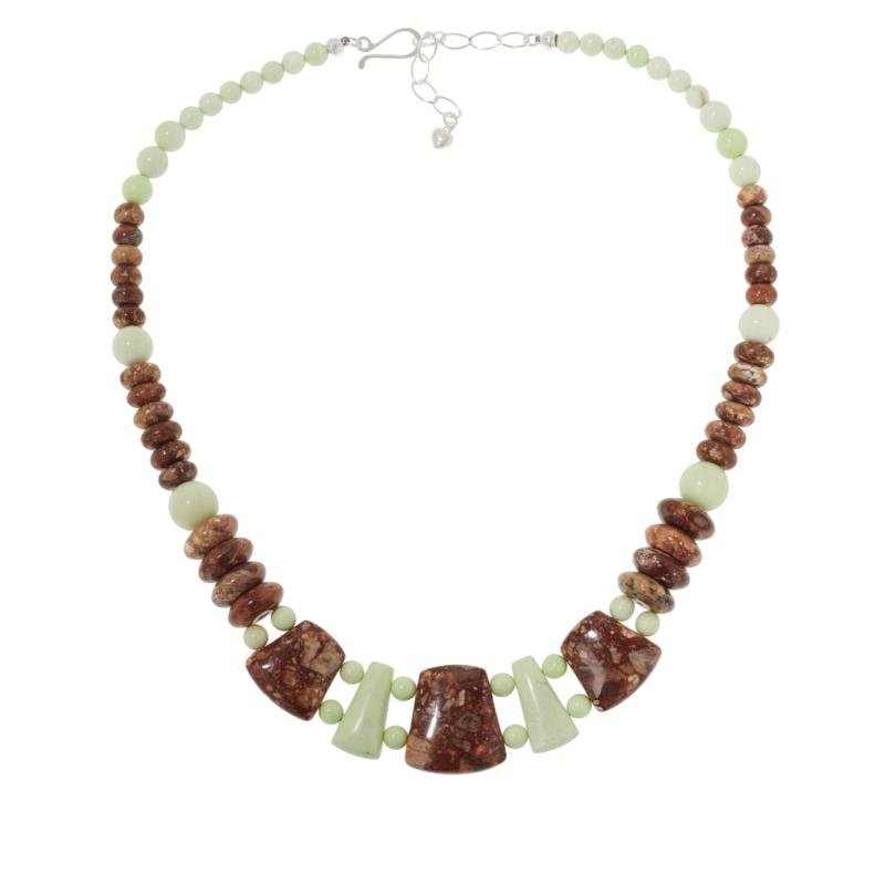 Jay King Sterling Silver New Ocean Wave and Meadow Stone Bead Necklace