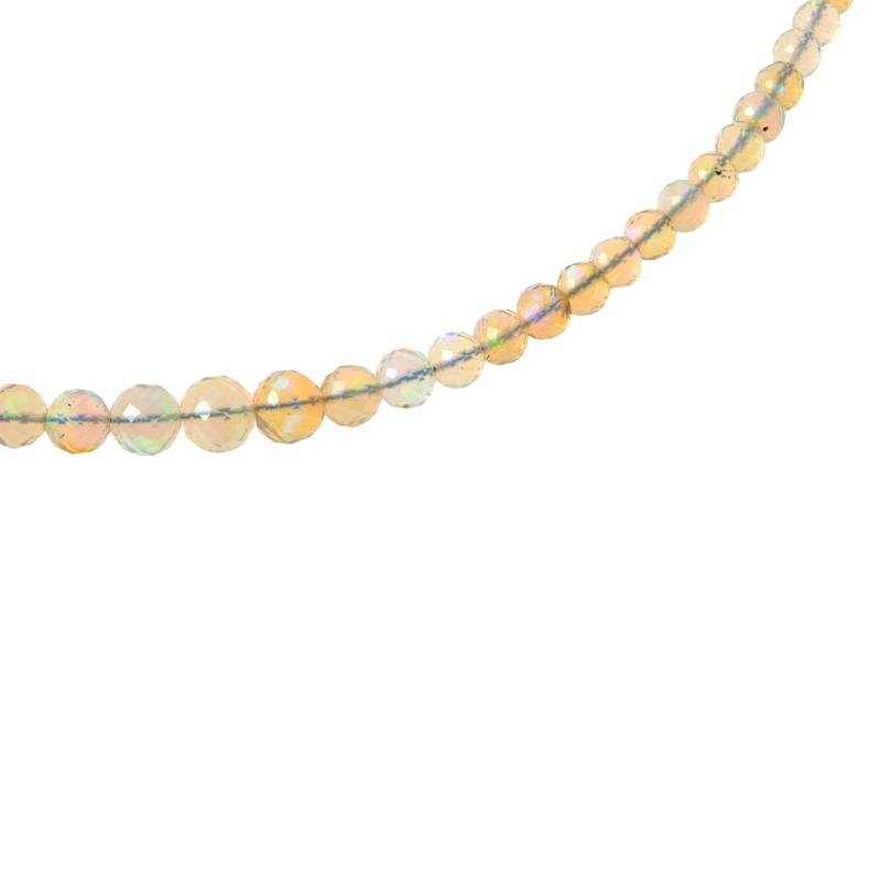 Jay King Sterling Silver Opal Bead Necklace
