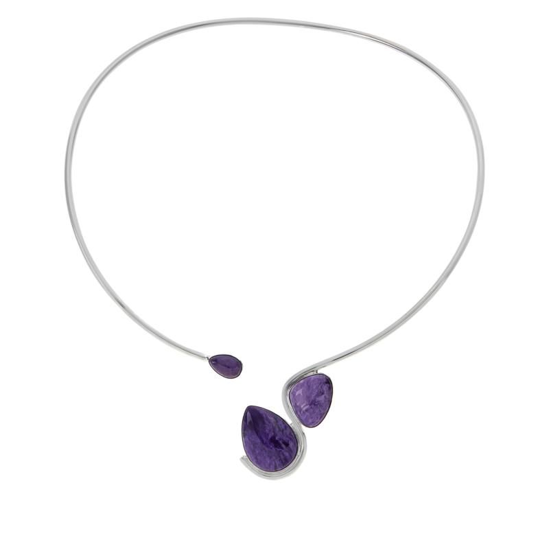 Jay King Sterling Silver Purple Charoite Collar Necklace