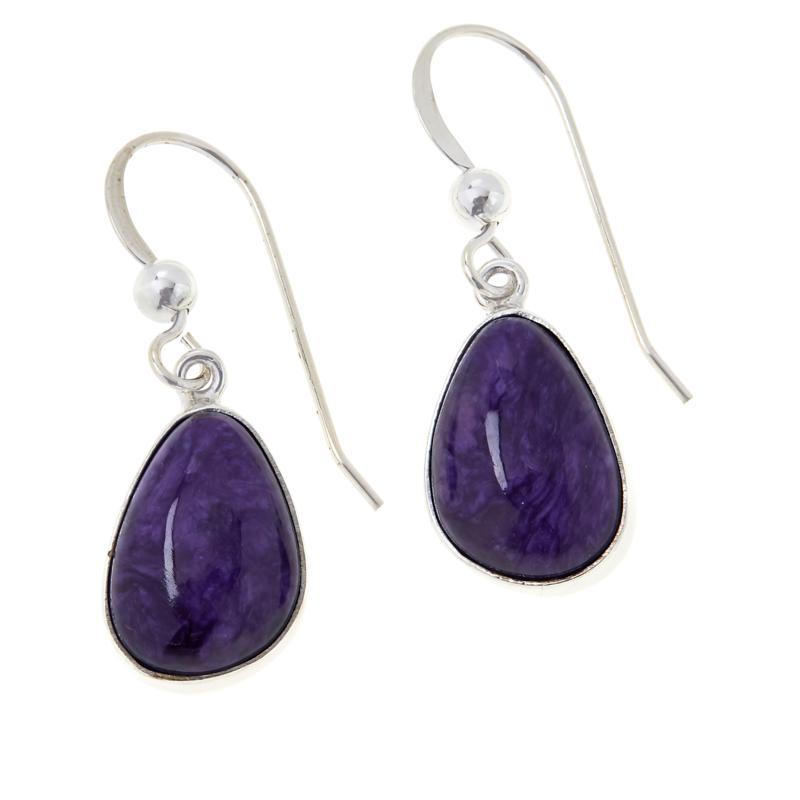 Jay King Sterling Silver Purple Charoite Drop Earrings