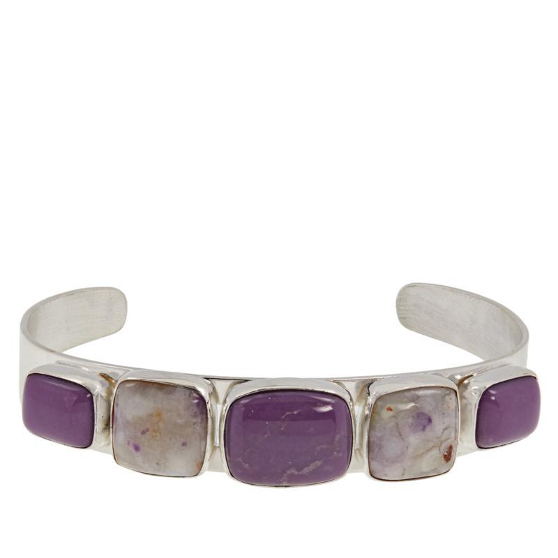 Jay King Sterling Silver Purple Multi-Gemstone Cuff Bracelet