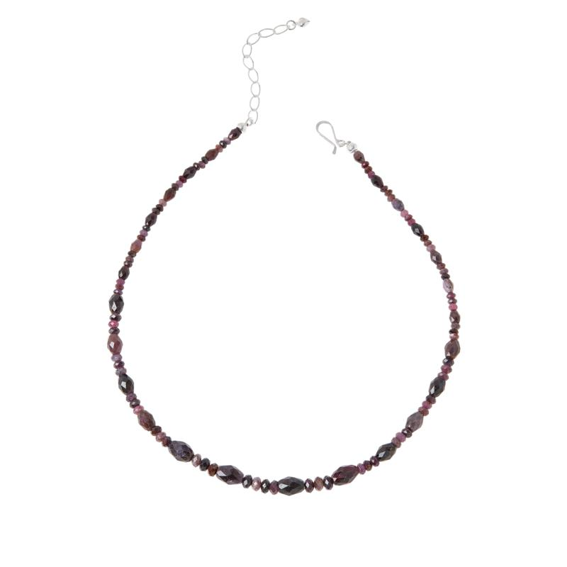 Jay King Sterling Silver Purple Sapphire Bead Necklace