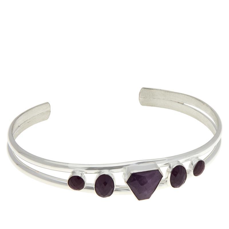 Jay King Sterling Silver Purple Sapphire Cuff