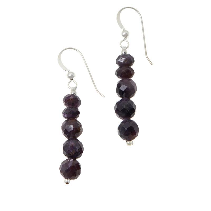 Jay King Sterling Silver Purple Sapphire Dangle Earrings
