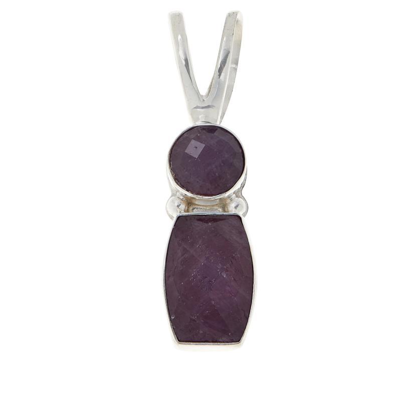Jay King Sterling Silver Purple Sapphire Pendant