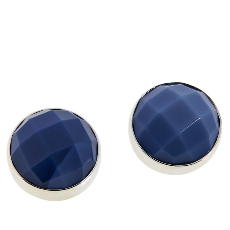 Jay King Sterling Silver Royal Blue Opal 10mm Stud Earrings