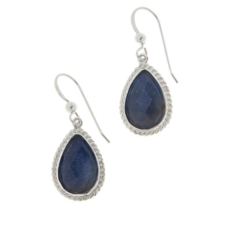 Jay King Sterling Silver Sapphire Pear Drop Earrings