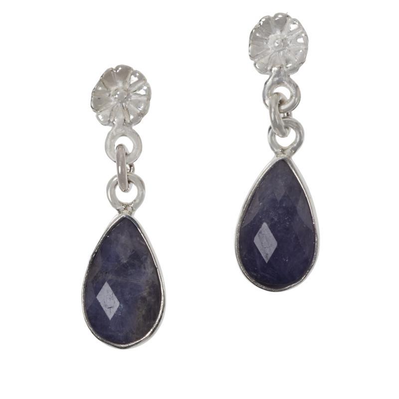 Jay King Sterling Silver Tanzanite Pear Drop Earrings