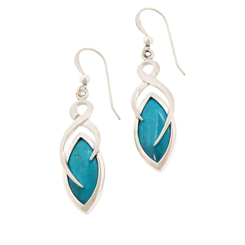Jay King Sterling Silver Turquoise Hill Drop Earrings