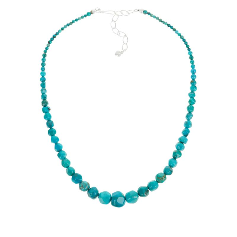 Jay King Sterling Silver Turquoise Hill Turquoise Nugget Bead Necklace