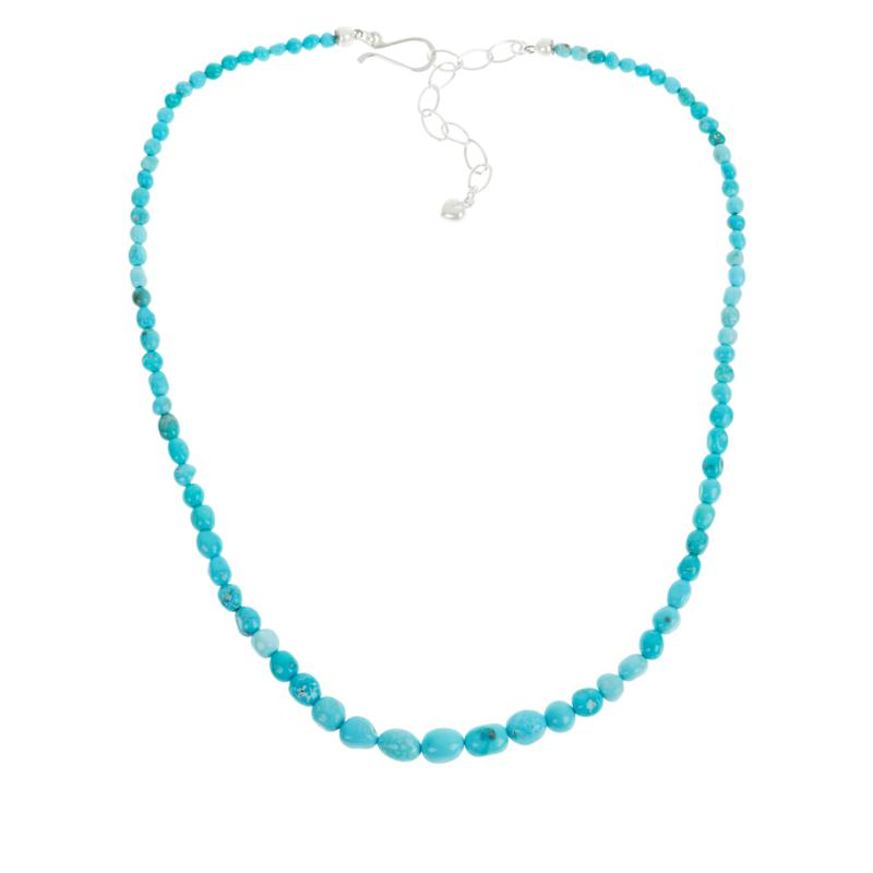 Jay King Sterling Silver White Cloud Turquoise Beaded Necklace