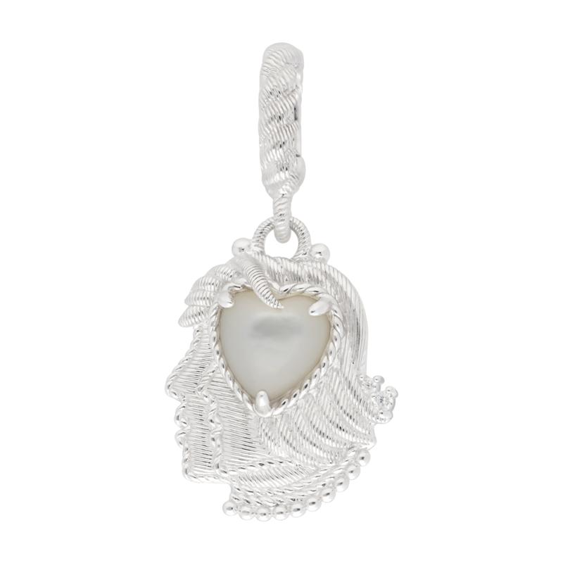 Judith Ripka Sterling Silver Mother-of-Pearl Gemini Zodiac Charm