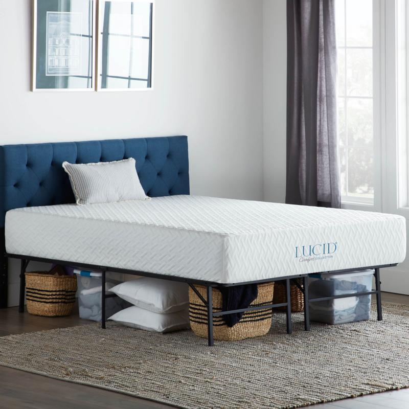 Lucid Comfort Collection Platform Twin Bed Frame