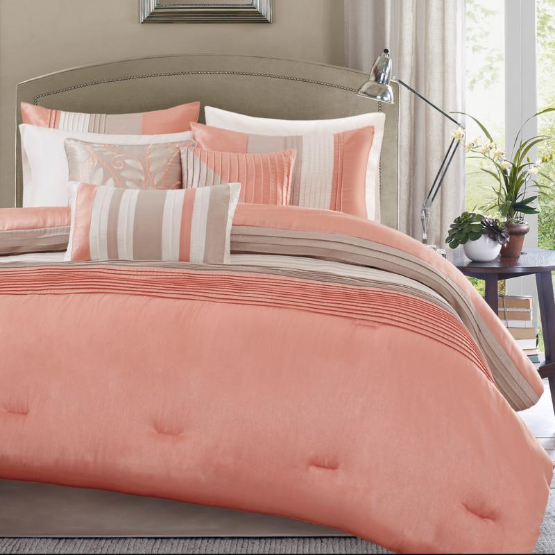 Madison Park Amherst 7pc Coral Comforter Set - King