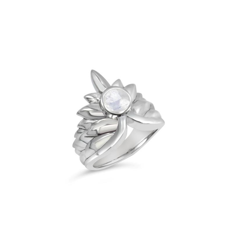 Margo Manhattan Athena Sterling Silver Gemstone Spike Ring