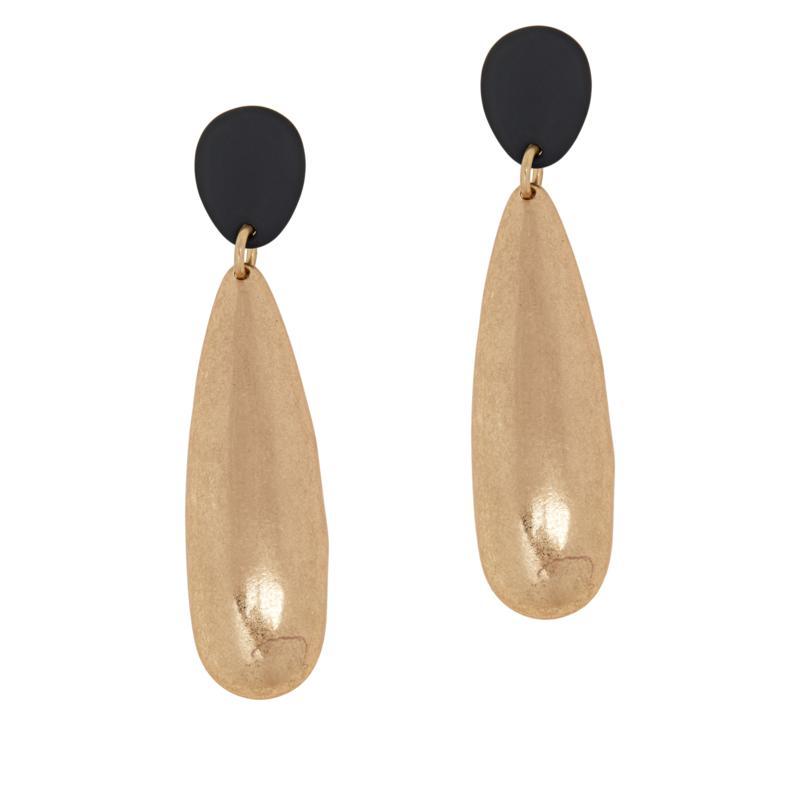 MarlaWynne Brushed Pear Drop Earrings