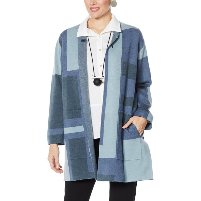 MarlaWynne Colorblocked Double Knit Topper