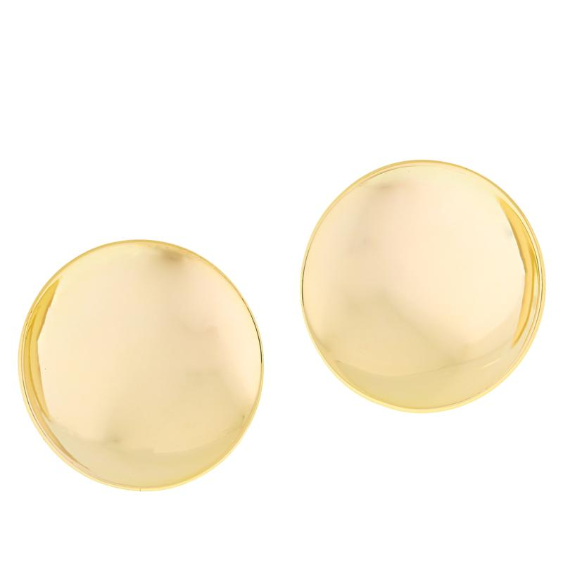 MarlaWynne Concave Polished Stud Earrings