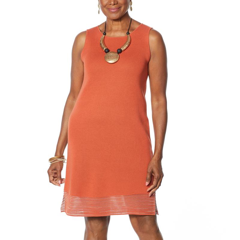 MarlaWynne Sleeveless Ottoman Dress