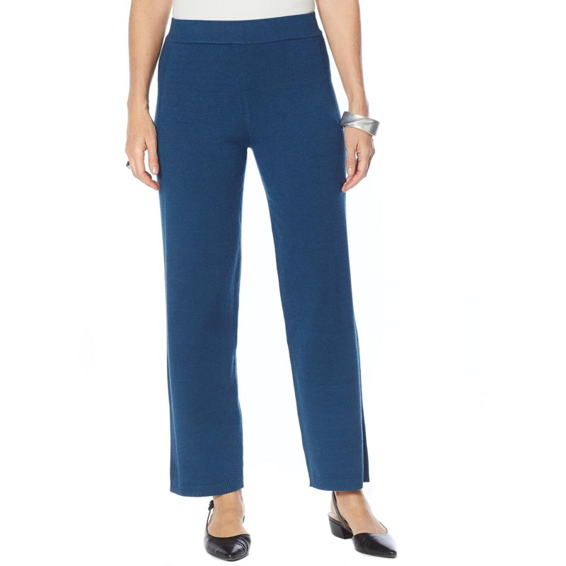 MarlaWynne Sweater Knit Pull-On Pant with Rib Trim