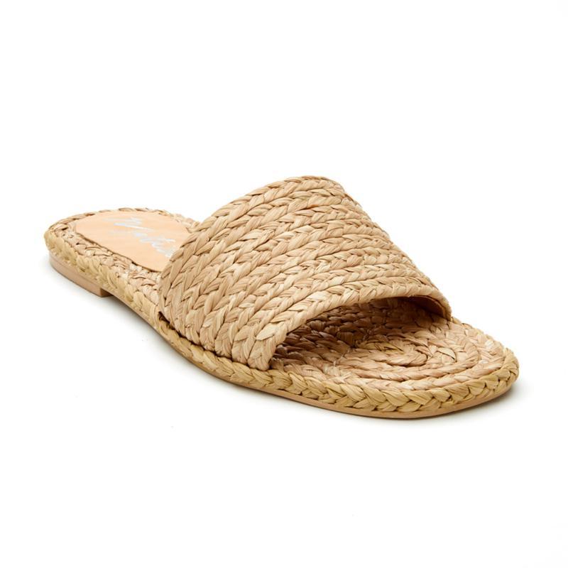 Matisse Hallie Woven Raffia Flat Sandal