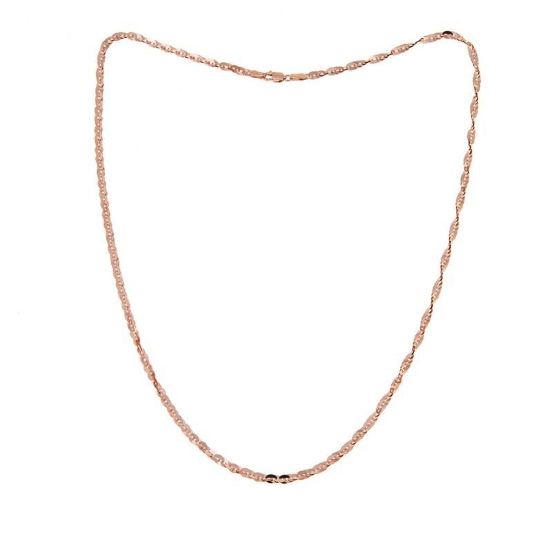 """Michael Anthony Jewelry® 10K Rose Gold Cleo Chain - 20"""""""