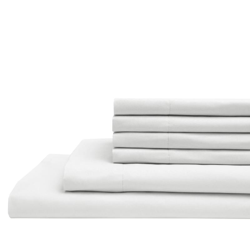 Microfiber Full Sheet Set with Extra Pillowcases