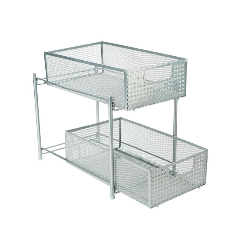 Mind Reader 2-Tier Cabinet Basket Mesh Storage Baskets