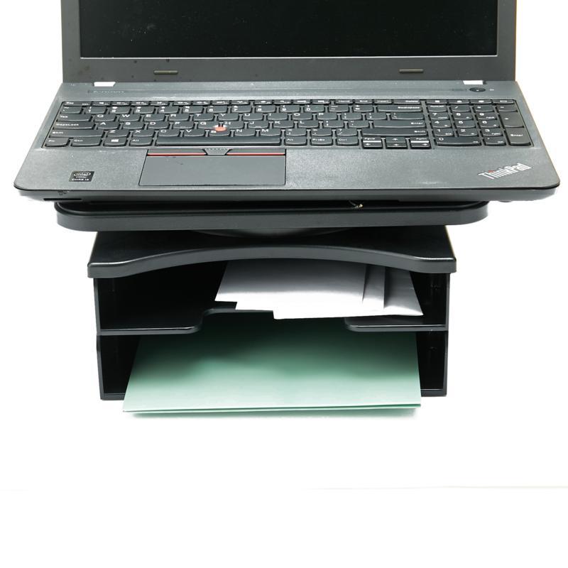 Mind Reader 360º Swivel Top 2-Tier Document Organizer