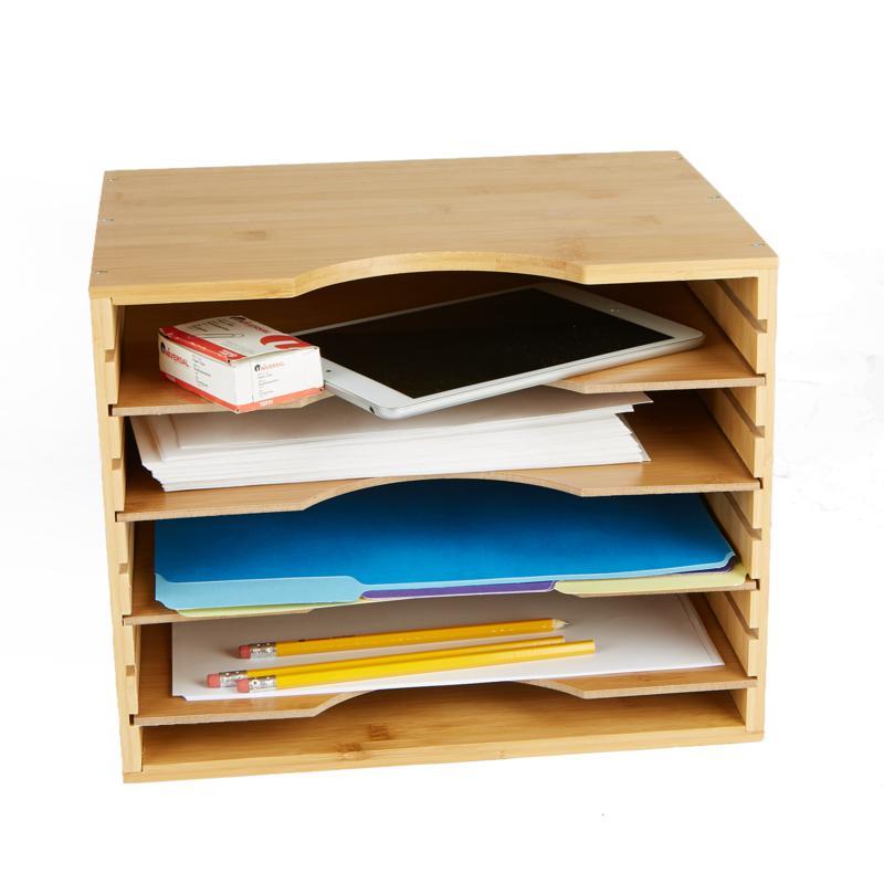 Mind Reader 4-Tier Vertical File Organizer Box