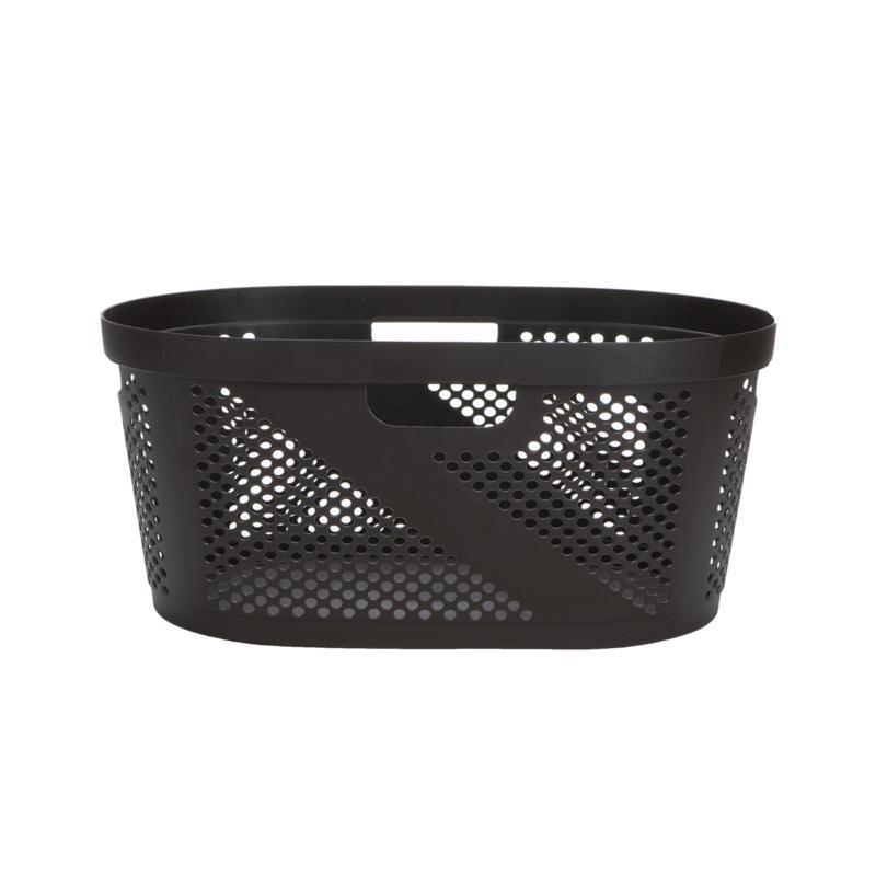 Mind Reader 40-Liter Laundry Storage Basket - White