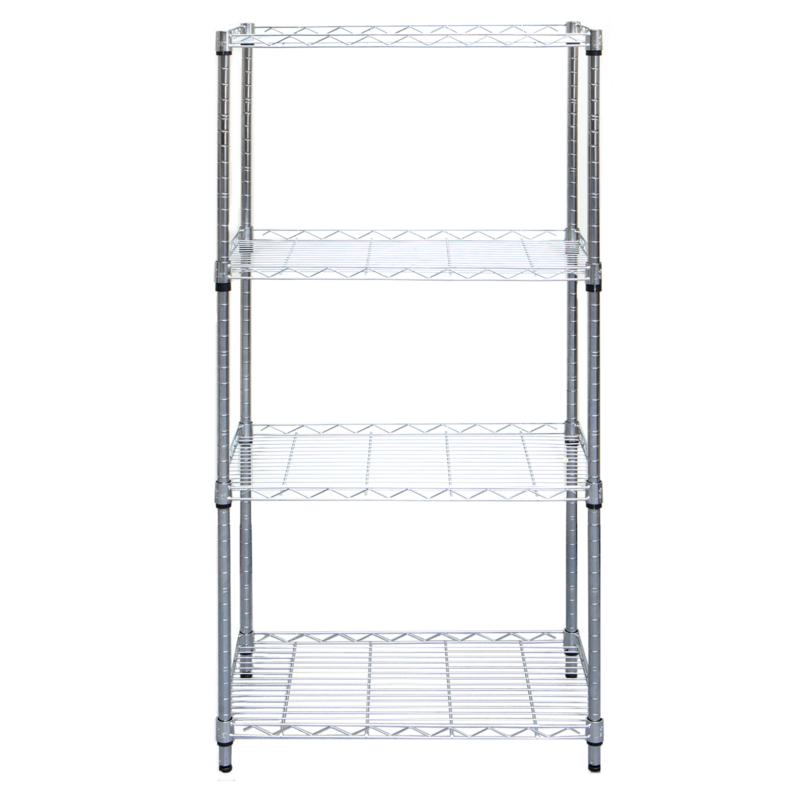 Mind Reader Heavy-Duty 4-Shelf Metal Storage Shelving Unit - Chrome