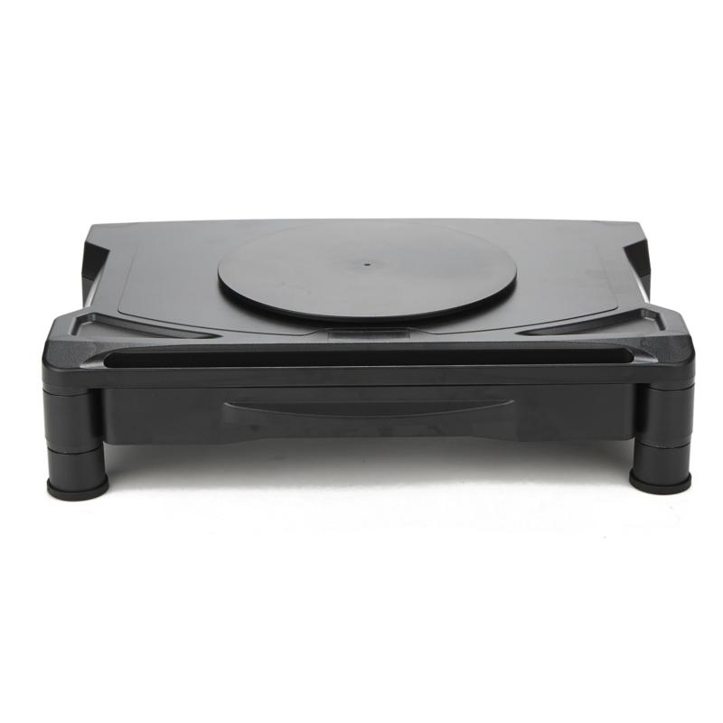 Mind Reader Rotative Extra Wide Adjustable Monitor Risers with Storage