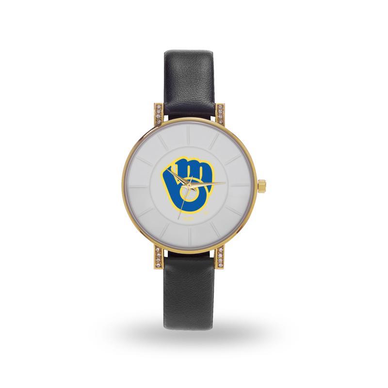 """MLB Sparo """"Lunar"""" Strap Watch - Brewers"""