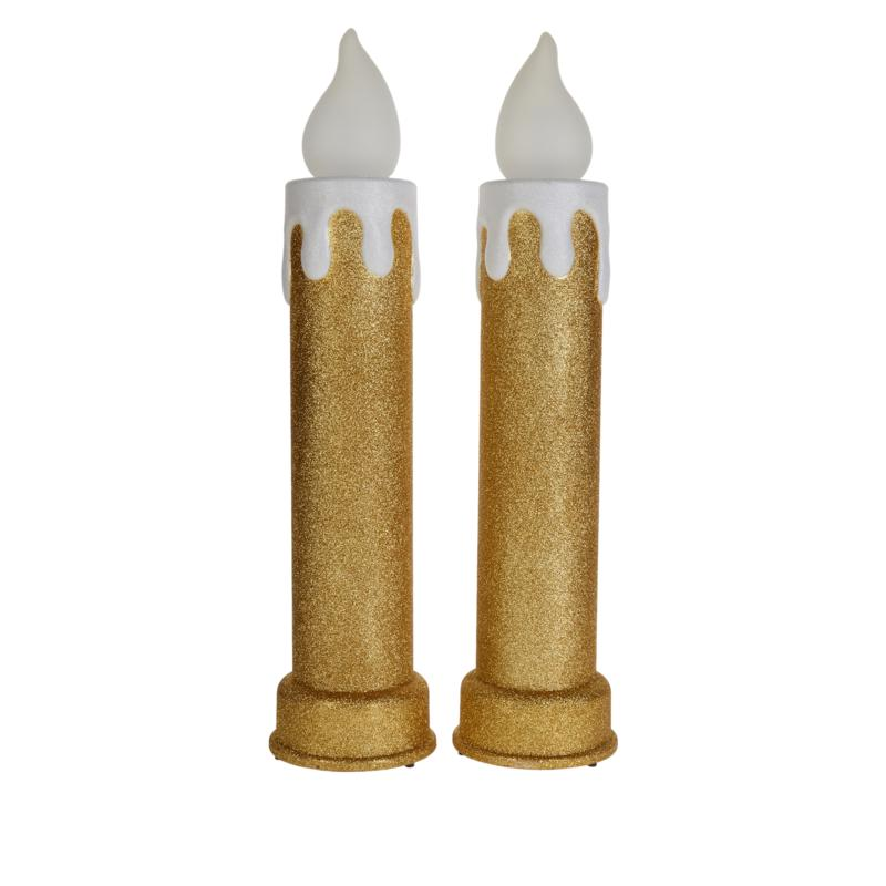 """Mr. Christmas 24"""" LED Glitter Candle 2-pack"""