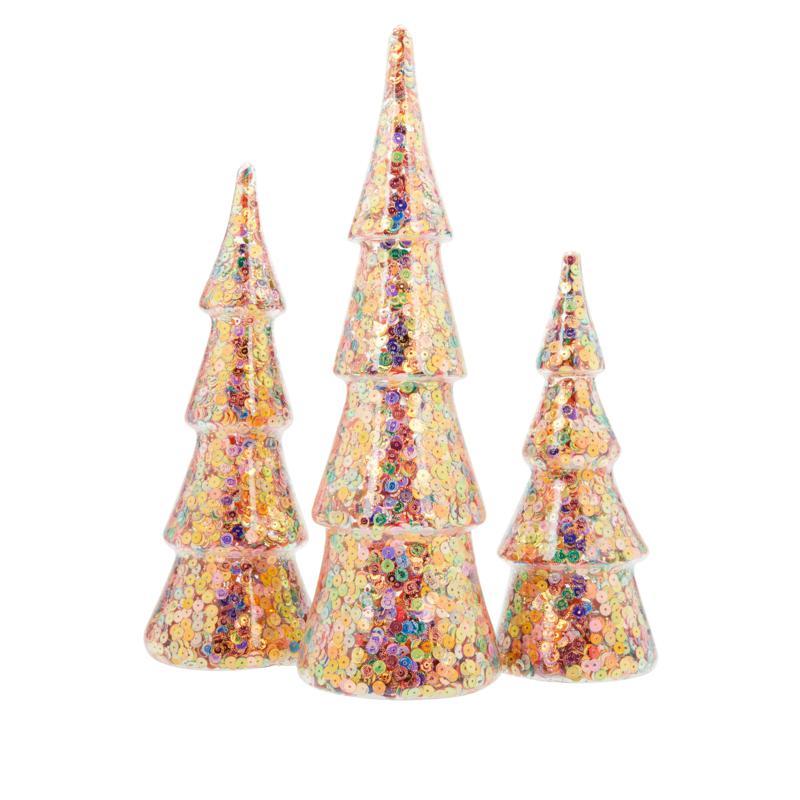 Christmas Light Up Tree Led W//Ornaments Glass Christmas Ex20539 Glitter