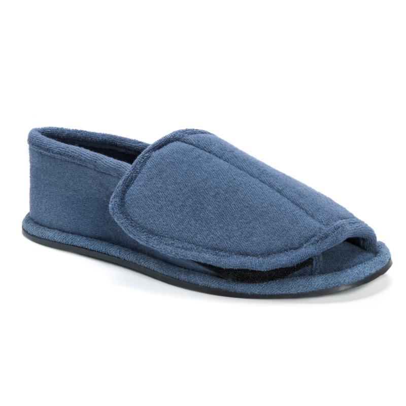 MUK LUKS Men's Velcro Open-Toe Slippers