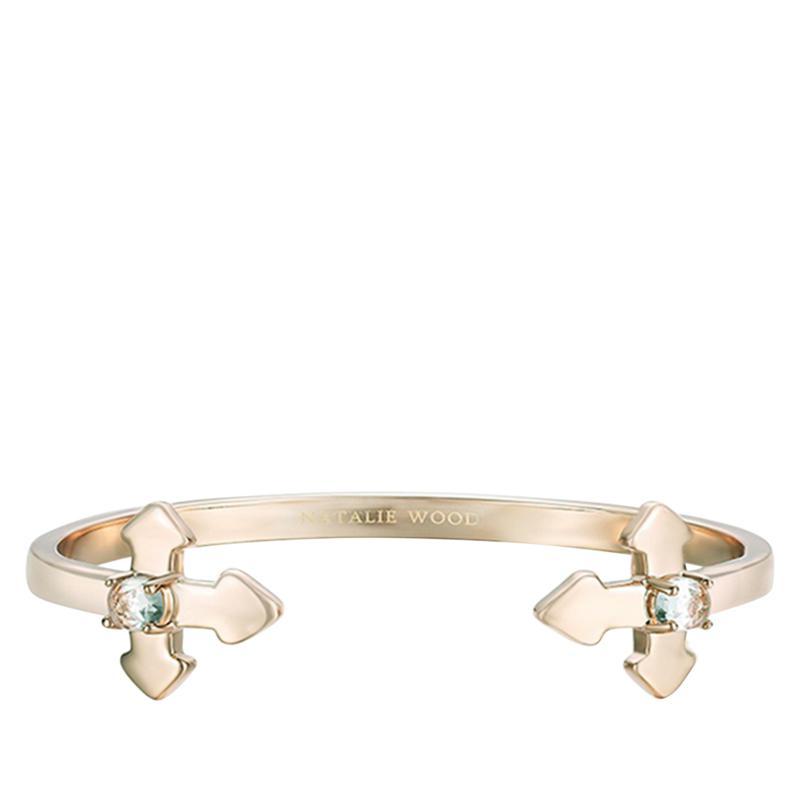 "Natalie Wood Designs ""Believer"" Cross Cuff Bracelet"