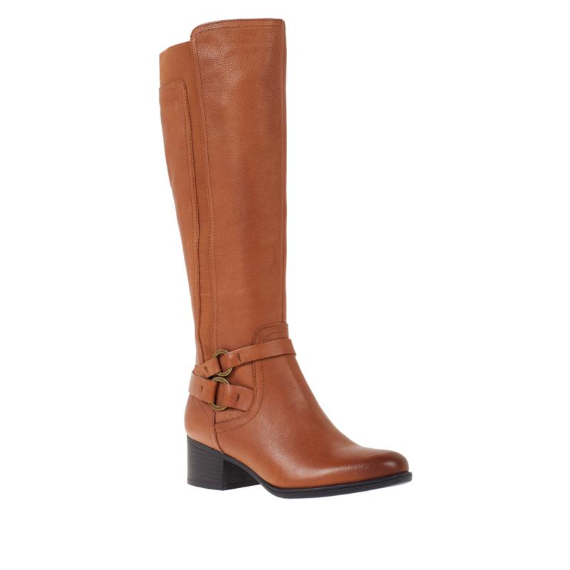 Naturalizer Kiana Leather or Suede Riding Boot