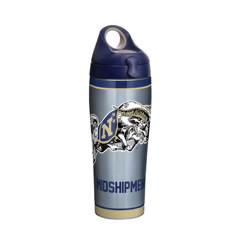 NCAA Navy Midshipmen Tradition 24 oz Stainless Steel Water Bottle w...