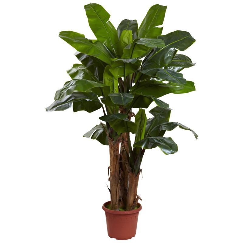 Nearly Natural 7 ft. UV Resistant Giant Triple Stalk Banana Tree