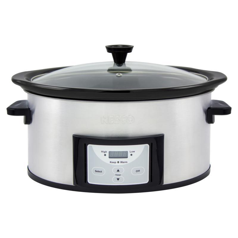 Nesco MC-625 Pick-a-Pot Stainless Steel Digital Slow Cooker