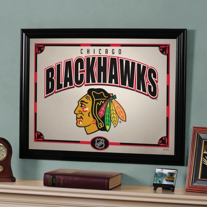 "NHL Team 23"" x 18"" Framed Mirror - Chicago Blackhawks"
