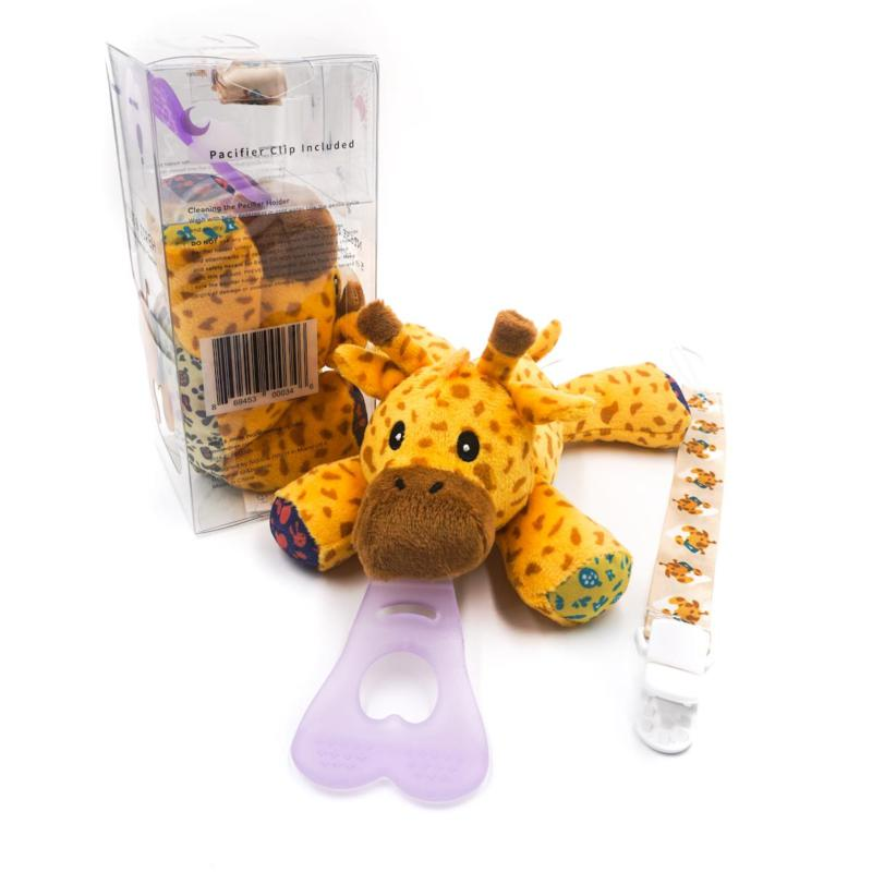 NISSI & JIREH 5in1 Universal Pacifier Holder, Teether w Clip - Giraffe