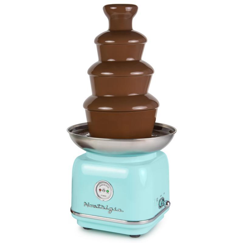 Nostalgia Classic Retro 4-Tier 2 lb. Chocolate Fondue Fountain