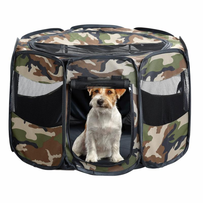 Odash Camo Portable Puppy Play Pen - Small